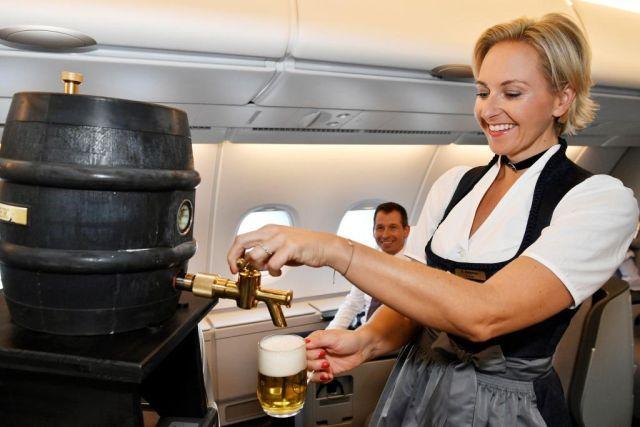 Lufthansa csapolt sör