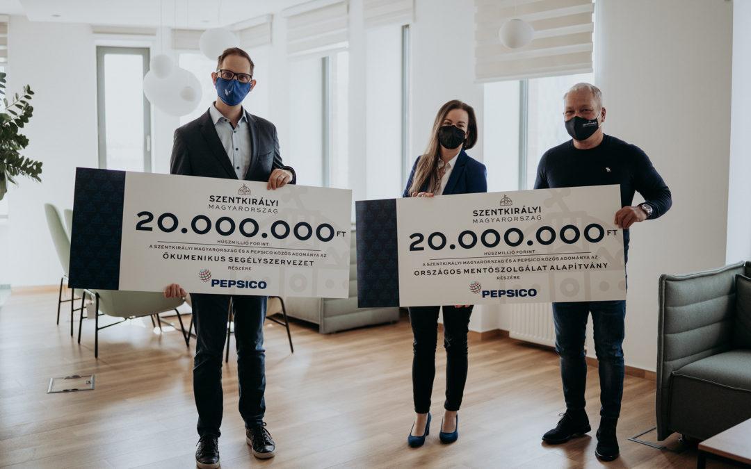 Segítségnyújtás a frontvonalban dolgozóknak: 40 millió forint támogatás a Szentkirályi Magyarországtól és a PepsiCo-tól