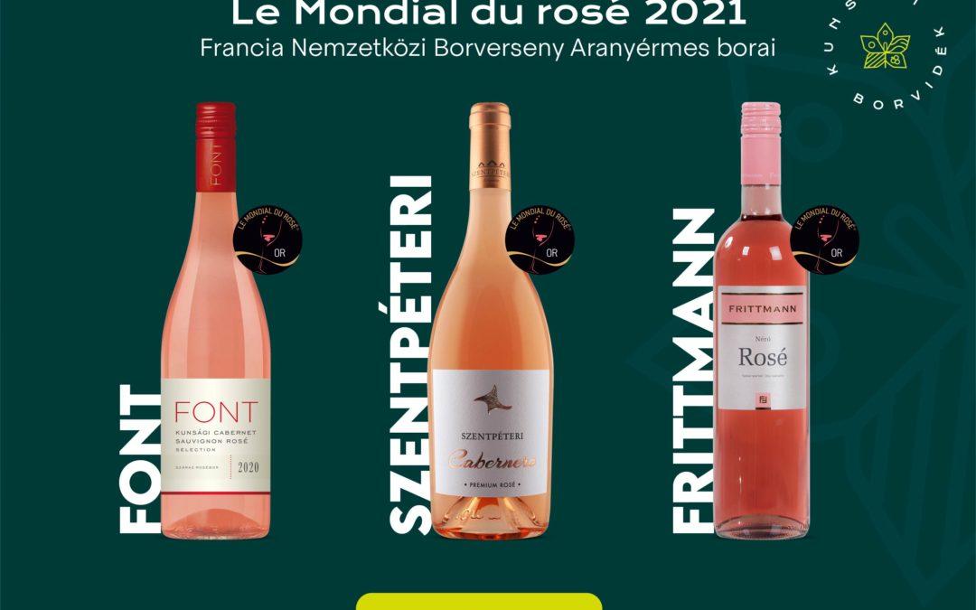 Taroltak a kunsági borok a világ legnagyobb presztizsű roséversenyén